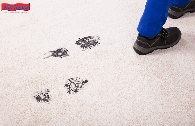 Dirty Footprints on a nice clean carpet